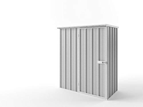 Endurashed Metallgerätehaus S | Silbergrau | 150x78x182 (B x T x H) | Geräteschrank / Geräteschuppen / Gartenschrank mit grosser Raumeffizienz