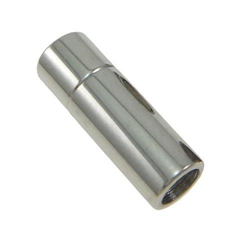 Auroris - zylinderförmiger Magnetverschluss aus Edelstahl - Loch: 5mm / 5 Stück