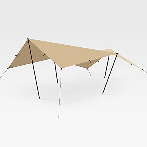 YZDKJDZ Strandmarkis, utomhus, bärbar skuggskydd presenning, multifunktionell campingtak ett lager tält för utomhus camping resor picknick fiske strand semester innergård underhållning