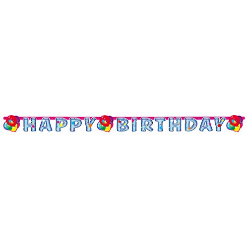 amscan - 552528 - Guirlande Happy Birthday Balloon Party 2 - 180 x 15 cm