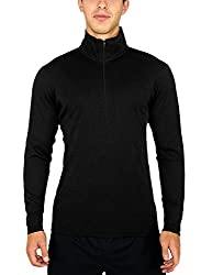 Woolx Explorer 1/4 Zip - Men's Merino Wool Base Layer Top - Midweight , Moisture Wicking Shirt