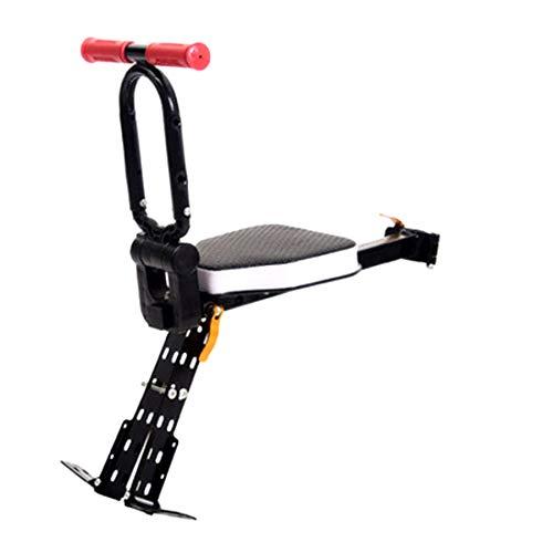 LuoKe Conjunto de Asiento de bebé Conjunto de Asiento de Seguridad Plegable de liberación rápida Frontal para niños para Bicicleta de montaña Universal