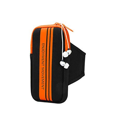 Ding&ng Handy-Armstulpe für Männer und Frauen, Armstulpe, Sportzubehör-Wandtasche@Orange