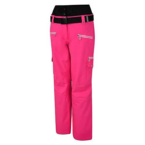 Dare 2b Damen Liberty Pant Wasserdicht & Atmungsaktiv High Loft Isoliert Hohe Taille Ski & Snowboard Hose mit integrierten Schneefangen, Skihose XXL Cyber Pink