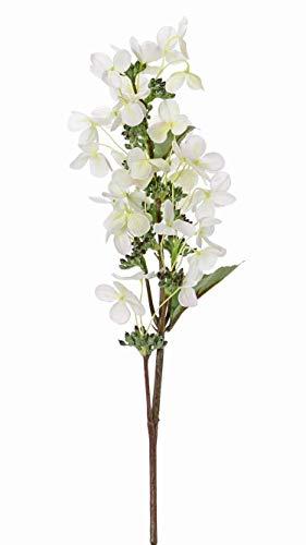 artplants.de Hortensia sintética Paniculata CHADORA, Blanco-Verde, 75cm, Ø15cm - Hydrangea Artificial - Hortensia Textil