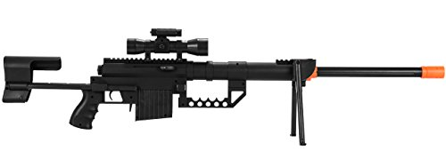 UKARMS P1200 M200 Airsoft Sniper Rifle (Black) FPS 330
