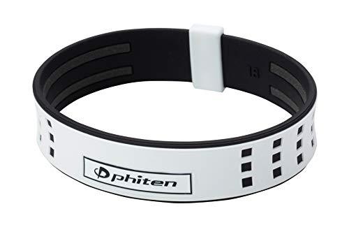 ファイテン(phiten) ブレスレット RAKUWAブレスS DUO   ホワイト/ブラック 18cm