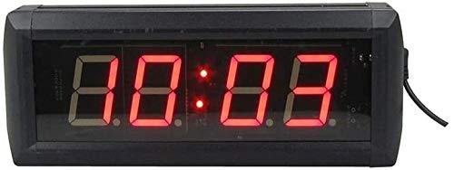 La Cuenta Atrás De La Aptitud LED Reloj Digital Gimnasio Entrenando Reloj De Pared Del Temporizador De Intervalos De Interior Con Función De Control Remoto, Conveniente For El Hogar, Oficina (tamaño: