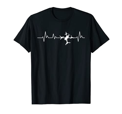 FPV Drone Heartbeat Freestyle y Racing Quadcopter Acro Camiseta