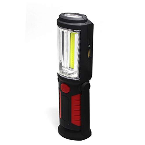 Lightlight Portable COB Light Impermeable Recargable LED LED Linterna Lámpara Lámpara de Luz Lámpara de Inspección con Magnet Batería Becado (Color emisor: B) nyfcck