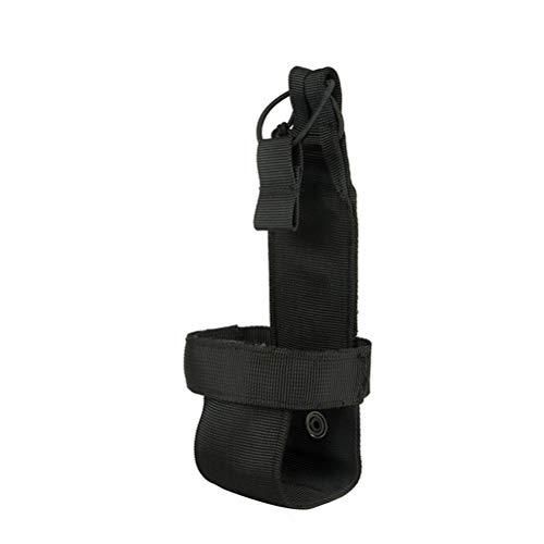 Healifty Flaschengürtel Nylon Wasserflasche Träger Gürtel Halter Tasche für Wandern Outdoor Sport Running (schwarz)