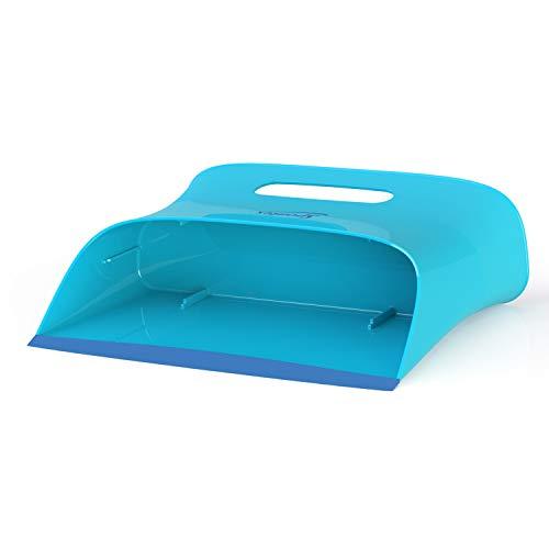 Spontex Catch & Clean, Kehrbesen mit Gummiborsten, Teleskopstiel und praktischem Auffangbehälter, hygienische und effiziente Reinigung für alle Bodenbeläge, 1 Set - 14