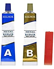Magic Welding Glue, Industrial Heat Resistance Cold Weld Metal Repair Paste, Heat Resistant Cold Weld Glue Repairing Agent, Permanent Metal Repair Paste Set (2 Bottles)