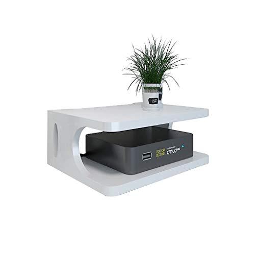 MSF Bloemenstandaard Wandrek, Houten TV Wandrekken, Kan Router/Set Top Box worden geplaatst, voor Woonkamer Slaapkamer 30×20×10 CM
