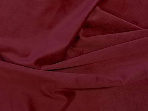 Dalston Mill Fabrics Tessuto in Velluto, Scarlatto, 4 m
