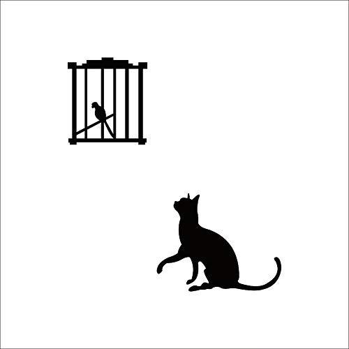 QTYUE Creative Cat Vogels Schakelaar Stickers Wandkoelkast Stickers Slaapkamer Parlor Decoratie DIY Home Decor Goedkope Muur s Behang