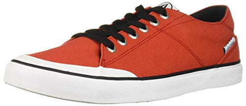 Volcom Mens Leeds Suede Vulcanized Skate Shoe, Chaussure Homme, Rouge, 41 EU