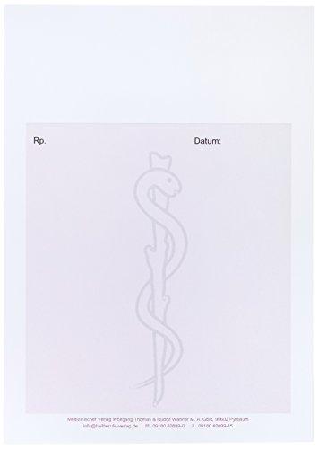 Wolfgang Thomas & Rudolf Wähner M.A. GbR Privatrezepte DIN A6 hoch, magenta mit Äskulapnatter, Einzelblätter für Ärzte und Heilpraktiker, 90 g/m²; 240 Stück