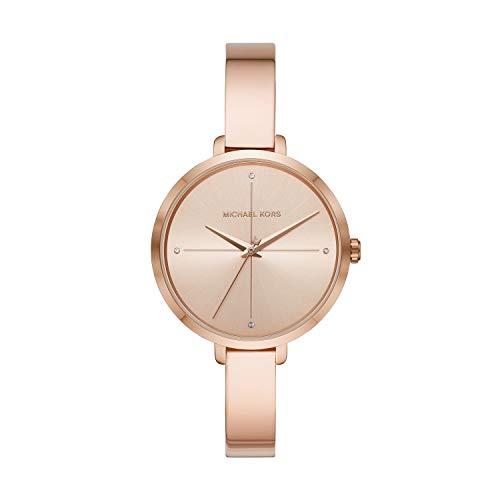 Michael Kors Charley MK4379 - Reloj de aleación dorado de tres manos para mujer