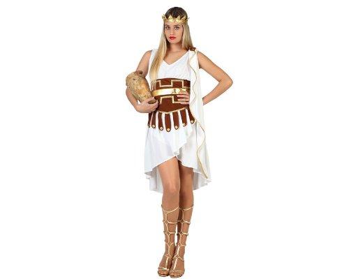 Atosa- Disfraz Mujer Griega, Color Blanco, M-L (22820)