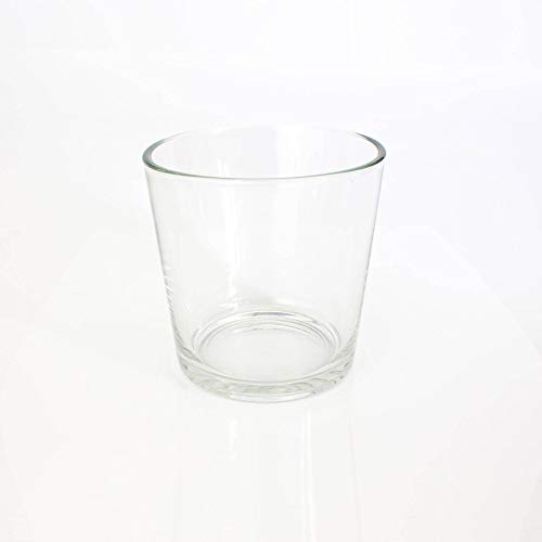 INNA-Glas Grand Vase - Cache-Pot Alena en Verre, Transparent, 19cm, Ø 18,5cm - Bougeoir géant - Vase XXL en Verre