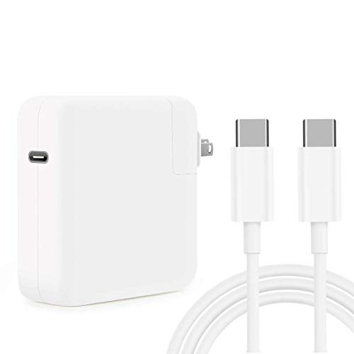 Replacement Mac Book Pro Charger, 61W USB C Charger Power Adapter for MacBook Pro 13 Inch 12 Inch, MacBook 13 Inch 12 Inch, MacBook Air 2018, ipad pro,Included USB-C to USB-C Charge Cable (6.6ft/2m). Buy it now for 29.99