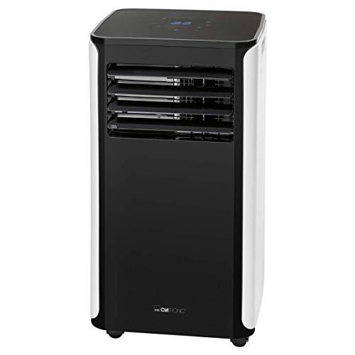 Clatronic CL 3716 mobiles Klimagerät, 9000 BTU Kühlleistung für große Räume, inkl. Fensterkit zum Abdichten, WiFi-Steuerung, Voice Control Amazon über Alexa + Google Assistant, 1050 W, 240 V