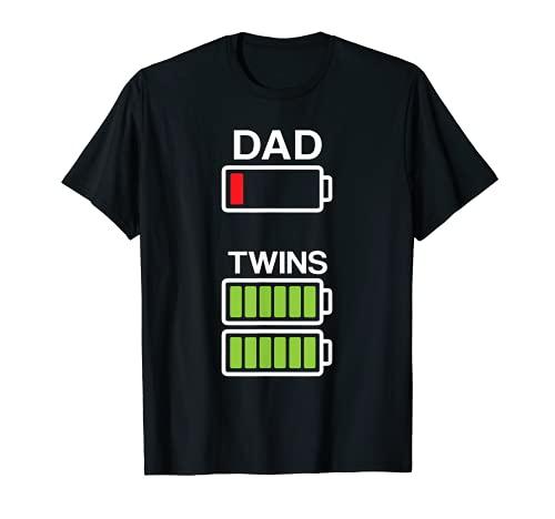 Herren Herren Dad, für Zwillinge, mit T-Shirt, Vatertag