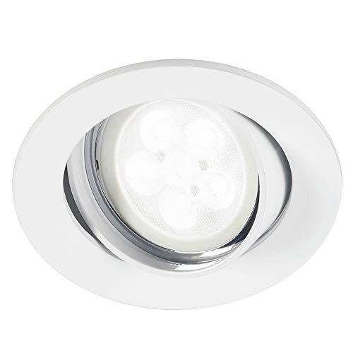 Light Topps LT1385230 Lot de 3 spots LED encastrables à intensité variable Blanc chaud 3 x 6,8 W