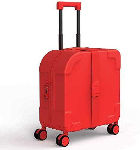 Maleta de dos ruedas puede expandir la caja de equipaje 4 colores para elegir el carro de tronco de 21 pulgadas,Red