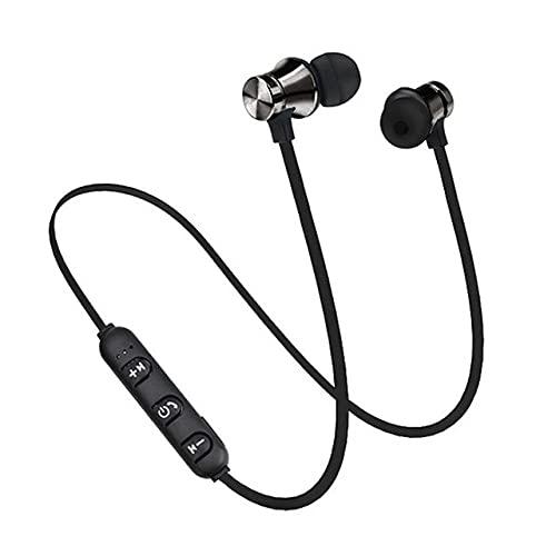 Wishtree Neck-wearing Wireless Stereo Bluetooth Headphones,In-ear Hanging Neck Waterproof Sweatproof Earbuds for Sports Gym