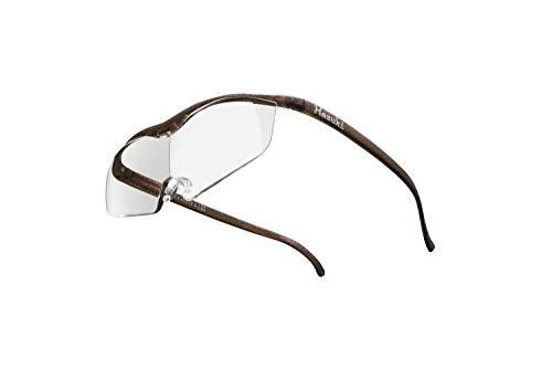 Hazuki ハズキルーペ 直営店 公式店 限定 倍率交換保証付き ラージ 1.6倍 クリアレンズ ブラウン ハズキ 拡大鏡 ルーペ メガネ型 眼鏡型 めがね型 メガネ 眼鏡 めがね 日本製 MADE IN JAPAN ギフト