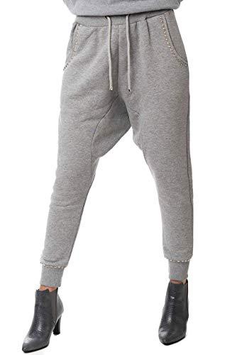 Morgan Visioli Fashion vrouwen broek grijs overtollig laag paard