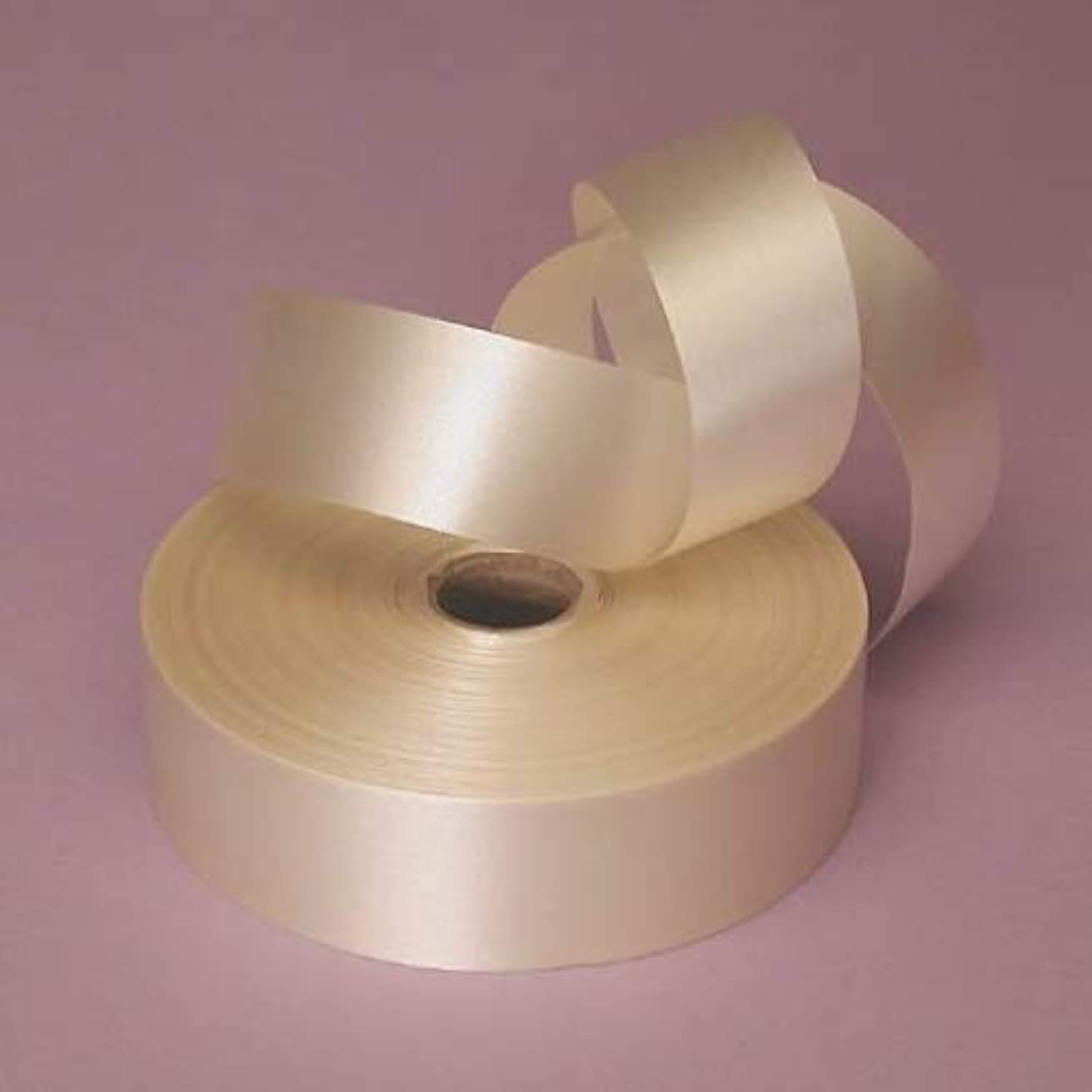 Ivory Embossed Poly Satin Ribbon, 4433752