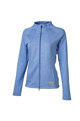 PUMA Golf 2020 Damen Cloudspun Jacke, Damen, Jacke, 2020 Warm Up Jacket, Palace Blue Heather, x Small