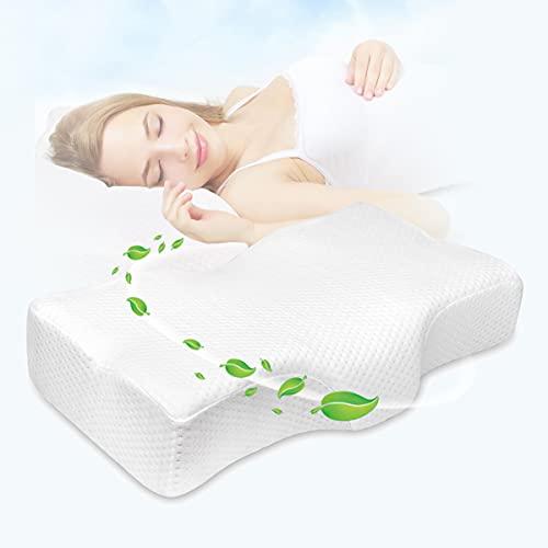 CARER SPARK Almohada Cervical,Almohada De Espuma Viscoelástica De Contorno Almohada Ergonómica Suave Apoyo para Dormir de Espaldas Durmientes de Lado