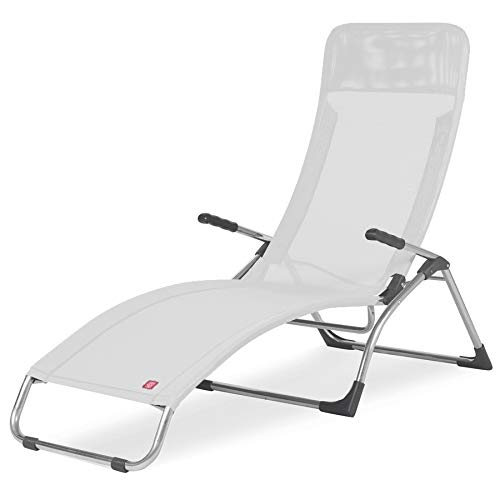 Fiam Samba Chaise Longue A' Bascule Art 045 TXBI Structure En Aluminium Et Texilene Blanc