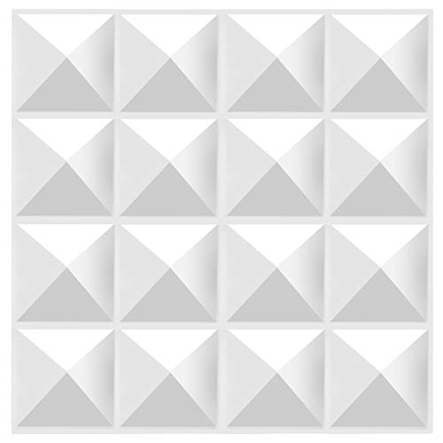 TroyStudio Acoustic Sound Diffuser Panel 12 X 12 X 1 Inches Pack of 4, Studio Diffuser Wall Decor