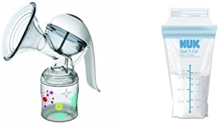 NUK Expressive Manual Breastpump with Seal N Go Disposible Liner, 25 Count