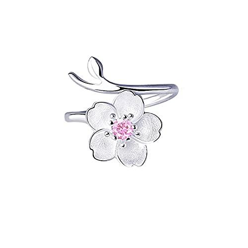 Anillo abierto azul de cristal sirena burbuja anillos abiertos para las mujeres joyería de moda creativa 9