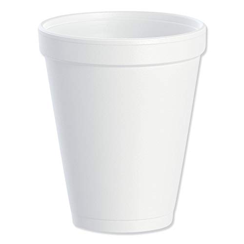 Dart DRC10J10 Styrofoam Insulated Foam Cups 10 oz 1000ct 40 Packs of 25  White