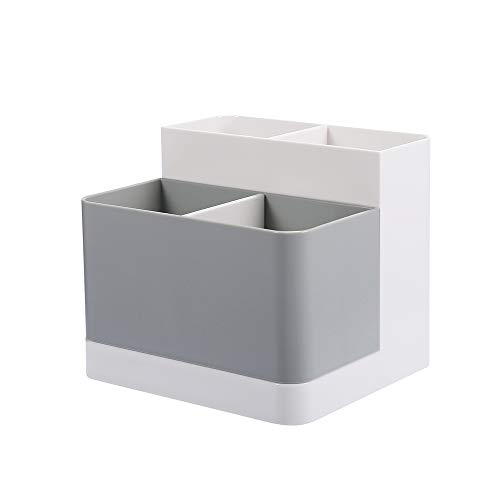 Poeland Desktop Storage Organizer Pencil Card Holder Box Container for Desk, Office Supplies, Vanity Table