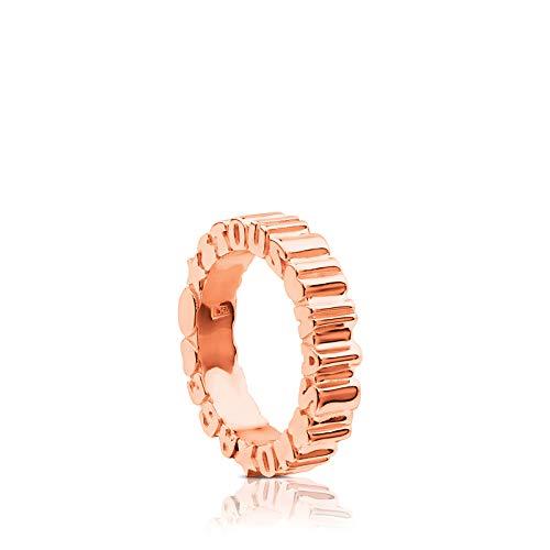 TOUS anillo de mujer en plata, bañado en...
