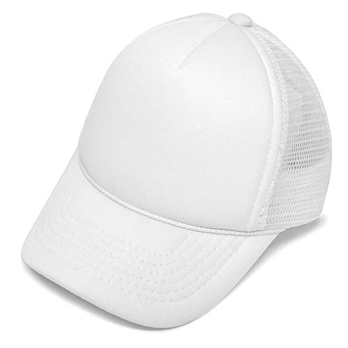 DALIX Infant Trucker Hat Baby Cap Tiny Extra Small Girls Boys in White