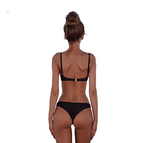 meioro Conjuntos de Bikinis para Mujer Push Up Bikini Traje de baño de Tanga de Cintura Baja Trajes de baño Adecuado Viajes Playa