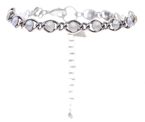 Konplott Armband Magic Fireball angelwhite crystal lt.grey de lite Classic