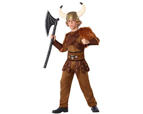 Atosa-61490 Atosa-61490-Disfraz Vikingo-Infantil NIño, Color marrón, 3 a 4 años (61490