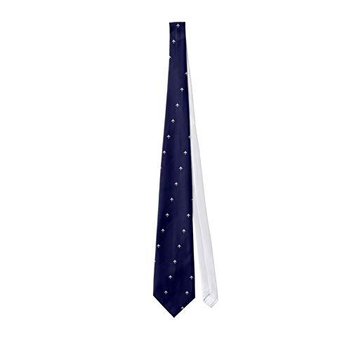 Los hombres clásicos de la corbata del viaje del avión con la línea de puntos de las corbatas de los hombres corbata