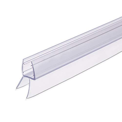 Navaris Guarnizione box doccia trasparente - Guarnizioni doccia sottoporta porta vetro ala 45° spessore 8mm anta 100cm - Ricambi diverse misure