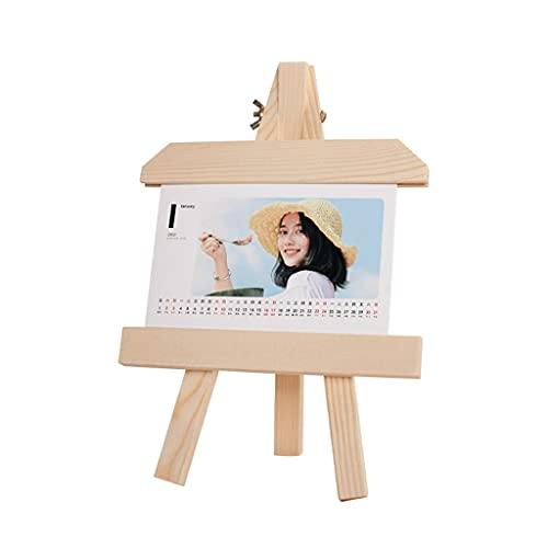 LZL 12 Meses Calendario Trípode A-Frame Easel Solid Wood Sky Calendar Custom Photo Desk Stand Calendar Calendar 2021 (Color : 6 Inch Customize)